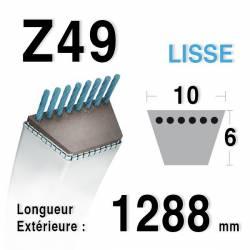 Courroie Z49 trapézoidale 10mm x 1288mm