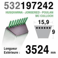 COURROIE 197242 / 532197242 HUSQVARNA - JONSERED - MC CULLOCH - POULAN