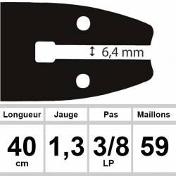 Guide OZAKI 40 cm 3/8LP 1,3mm