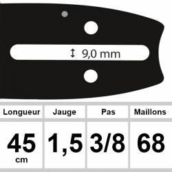 Guide OZAKI 45cm 3/8 1.5mm