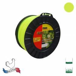 Bobine fil nylon rond OZAKI Premium - 3mm x 169m - Qualité professionnelle - Fabrication française