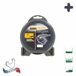 Coque fil nylon hélicoïdal OZAKI Twisted Power Silent Line - 2.40mm x 15m - Qualité professionnelle - Fabrication française