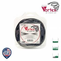 Coque fil nylon hélicoïdal copolymère VORTEX - 2.40mm x 15m - Qualité professionnelle - Fabrication américaine