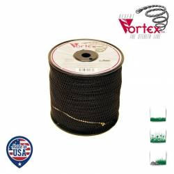 Bobine fil nylon hélicoïdal copolymère VORTEX - 3mm x 131m - Qualité professionnelle - Fabrication américaine