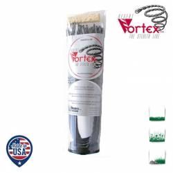 Tube 24 fils nylon hélicoïdal copolymère VORTEX - 3.90mm x 53cm - Qualité professionnelle - Fabrication américaine
