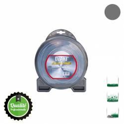 Coque fil nylon bi-composant OZAKI Alu Line - 3mm x 15m - Qualité professionnelle