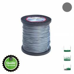 Bobine fil nylon bi-composant OZAKI Alu Line - 4mm x 159m - Qualité professionnelle