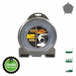 Coque fil nylon pentagonal bi-composant OZAKI Titanium Power - 3mm x 62m - Qualité professionnelle