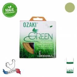 Coque fil nylon oxo-biodégradable OZAKI Green Rond - 2.40mm x 15m - Qualité professionnelle - Fabrication française