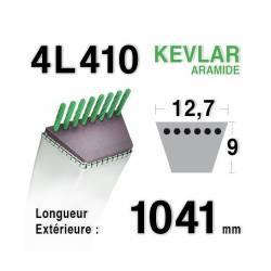 COURROIE KEVLAR 4L410 - 4L41 - HUSQVARNA 519653058 - JOHN DEERE AM35380-M43795-M75746 - MTD 7540201-7540234