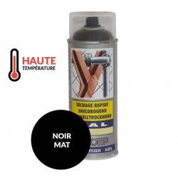Peinture spéciale motoculture couleur NOIR MAT Haute Température - Aérosol 400ml