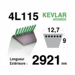 COURROIE KEVLAR 4L1150 - 4L115 - HUSQVARNA 532442781 - 583566401 - JONSERED - 14993 - JOHN DEERE - 107-17HS