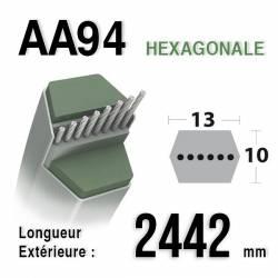 COURROIE AA94 - MTD 75404174 - 754-04174 - Longueur 2442mm