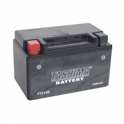 Batterie YTZ10S + à gauche