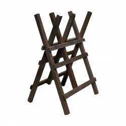 Chevalet de tronçonnage en bois - 3 tréteaux - Grand modèle renforcé