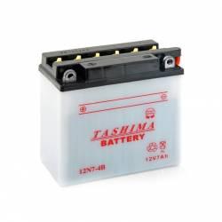 Batterie 12N74B + à gauche