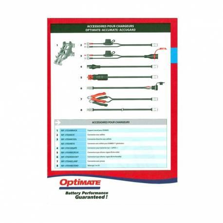 Connexion avec oeillets TECMATE pour chargeur de batterie