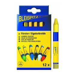 Boite de 12 craies de marquage jaune BLEISPITZ