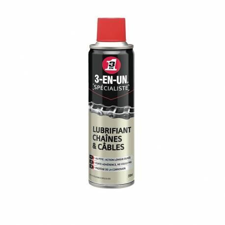 Aérosol lubrifiant pour chaîne 3EN1 250ml