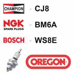 BOUGIE OREGON - CHAMPION CJ8 - NGK BM6A - BOSCH WS8E