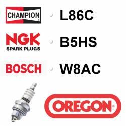 BOUGIE OREGON - CHAMPION L86C - NGK B5HS - BOSCH W8AC