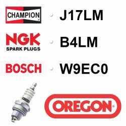 BOUGIE OREGON - CHAMPION J17LM - NGK B4LM - BOSCH W9EC0