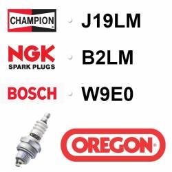 BOUGIE OREGON - CHAMPION J19LM - NGK B2LM - BOSCH W9E0