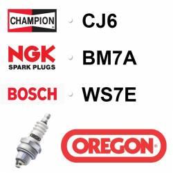 BOUGIE OREGON - CHAMPION CJ6 - NGK BM7A - BOSCH WS7E