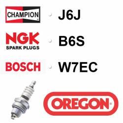 BOUGIE OREGON - CHAMPION J6J - NGK B6S - BOSCH W7EC