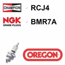 BOUGIE OREGON - CHAMPION RCJ4 - NGK BMR7A