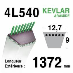 COURROIE KEVLAR 4L540 - 4L54 - HUSQVARNA 506768401 - MTD 7540195 - MURRAY 37 x 50