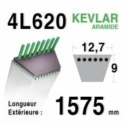 COURROIE KEVLAR 4L620 - 4L62 - CASTELGARDEN 35061502/1 - 35061501/0 - HONDA CG35061501H0 - MURRAY 37x15 - HUSQVARNA 506660401