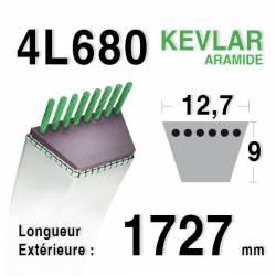 COURROIE KEVLAR 4L680 - 4L68 - AYP / ROPER 5125R - BOLENS 1724035 - MTD 7540342 - STIGA 1134-9011-01 - 9585-0054-00