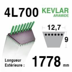 COURROIE KEVLAR 4L700 - 4L70 - AYP / ROPER 362828 D3 RA - 62828 - 108505 - SIMPLICITY 1713549