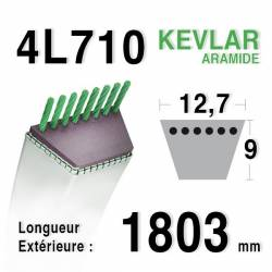COURROIE KEVLAR 4L710 - 4L71 - AMF / NOMA 47390 - 38098 - ARIENS 72116 - Bernard Moteur  /loisirs 498631 - 47390