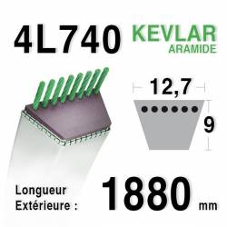 COURROIE KEVLAR 4L740 - 4L74 - AYP / ROPER 8845 - MTD / MOTOSTANDARD 75239 - MURRAY 23496 / 37x19