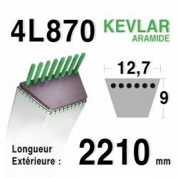COURROIE KEVLAR 4L870 - 4L87 - AYP 180214 - HUSQVARNA 532180214  - AMF NOMA 314120 - JOHN DEERE M40223 - MURRAY 37X89