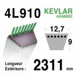COURROIE KEVLAR 4L910 - 4L91 - SIMPLICITY / PAGET 11655069
