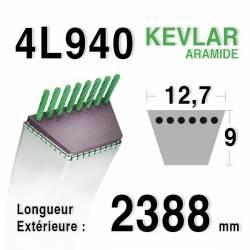 COURROIE KEVLAR 4L940 - 4L94 - Husqvarna 532180215 - 532144959 - AYP 180215 - 373794 D3 RA