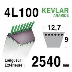 COURROIE KEVLAR 4L1000 - 4L100 - CASTELGARDEN / GGP 35062010/0 - 35062011/0 - HONDA CG35062010H0. CG35062001HO