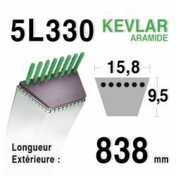COURROIE KEVLAR 5L330 - 5L33 - MTD 7540629 - 754-0629.