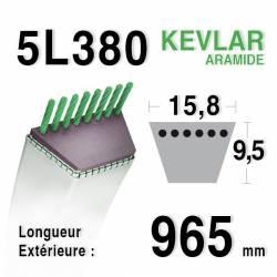 COURROIE KEVLAR 5L380 - 5L38 - KUBOTA 6132162210