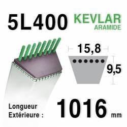 COURROIE KEVLAR 5L400 - 5L40 - JOHN DEERE M43095, M82258 - HONDA 22431-724-003 - MAMETORA 62002655
