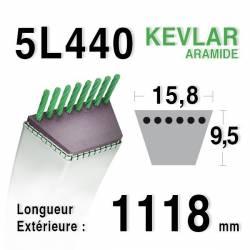 COURROIE KEVLAR 5L440 - 5L44 - MTD 754-0446 - 7540446