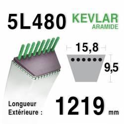 COURROIE KEVLAR 5L480 - 5L48 - MTD 7540370 - 754-0370