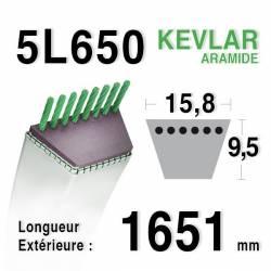COURROIE KEVLAR 5L650 - 5L65 - MTD 7540279 / 7540363 - COUNTAX 22929500