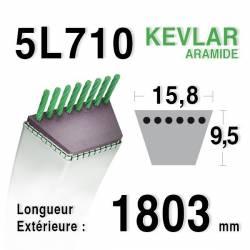 COURROIE KEVLAR 5L710 - 5L71 - AYP ROPER 55941 / 3541R / 6944R - BERNARD LOISIRS 414847 -  MTD 7540427 - WESTWOOD 1721