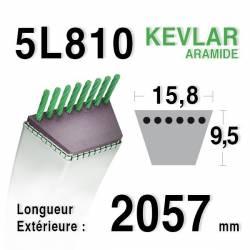COURROIE KEVLAR 5L810 - 5L81 - MTD 7540182 - AYP / ROPER 6474H - AMF / NOMA 319005
