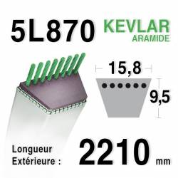 COURROIE KEVLAR 5L870 - 5L87 - RANSOMES A491014