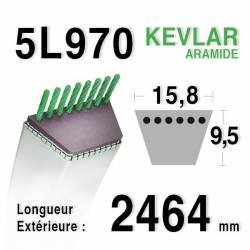 COURROIE KEVLAR 5L970 - MTD 7540479 / 75404087 / 7540492 - MURRAY 321205 - AYP / ROPER 174883
